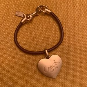 New Without Tags Coach NY  Leather Locket Bracelet